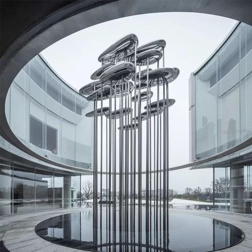云朵不锈钢景观雕塑创意园林造型摆件