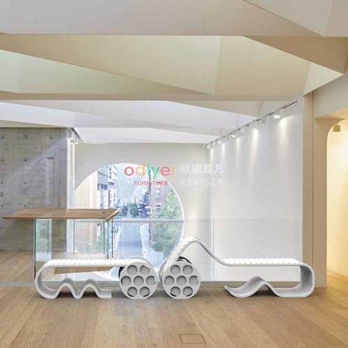 胶卷电影带玻璃钢坐凳创意造型休闲椅
