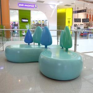 玻璃钢心形商场休闲椅