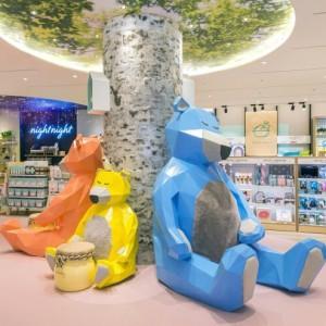 熊玻璃钢景观雕塑