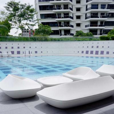 玻璃钢沙发茶几座椅组合