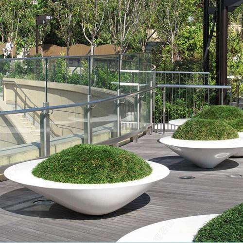 玻璃钢椭圆形异形花盆花池