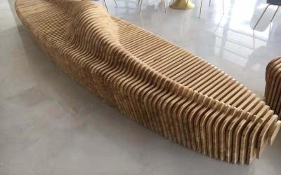 江苏连云港咖啡店木质切面坐凳