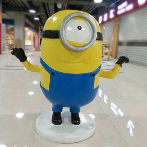 小黄人玻璃钢雕塑卡通玩偶