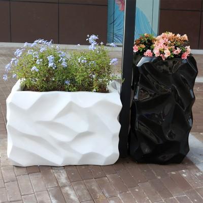 玻璃钢花盆组合商场创意组合花器户外公共区美陈花钵园林景观花箱