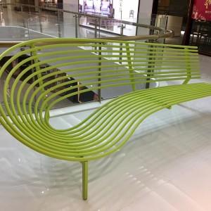 不锈钢靠背商场酒店休息异形创意座椅