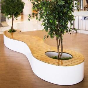 木面玻璃钢树池景观坐凳