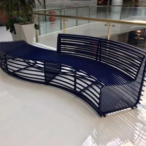 不锈钢镂空靠背异形创意景观坐凳