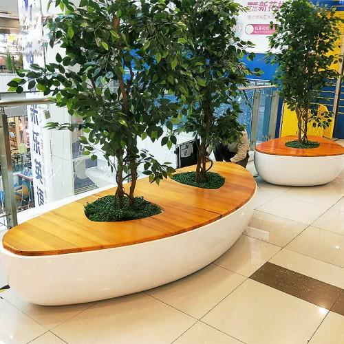 玻璃钢异形坐凳创意美陈景观树池坐凳