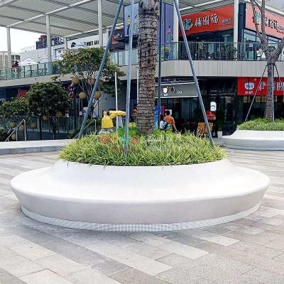 玻璃钢圆形花坛户外树池坐凳