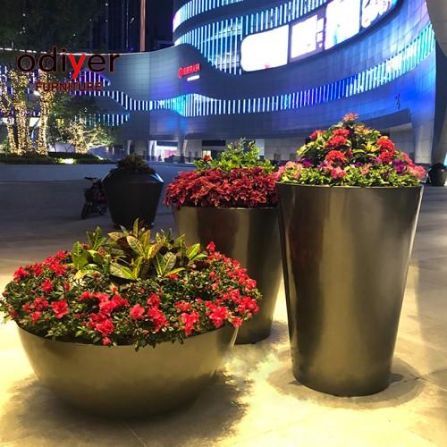 玻璃钢大型户外花盆商业广场街区景观花盆