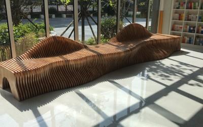 陕西西安客户定制一批木质切片坐凳