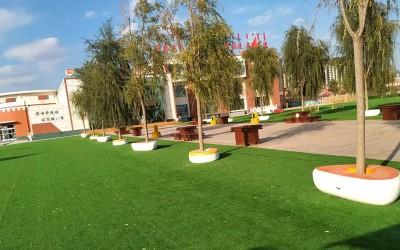 内蒙古鄂尔多斯幼儿园定制一批玻璃钢树池坐凳