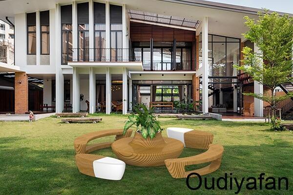 玻璃钢与木结合,缔造不一样的玻璃钢家具!