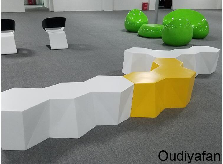 玻璃钢创意六边形拼接椅,创造优质生活!