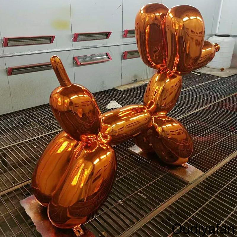 不锈钢气球狗雕塑,这样的狗狗太逼真了!