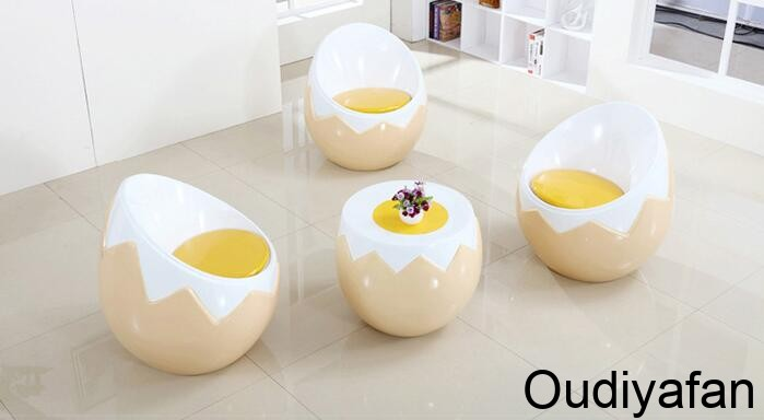 鸡蛋壳座椅茶几组合,居家精品!