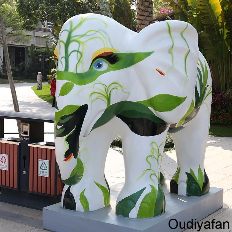 为什么很多地方喜欢放大象玻璃钢雕塑?
