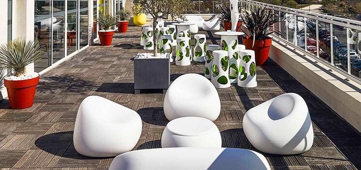 玻璃钢家具时尚茶几坐凳