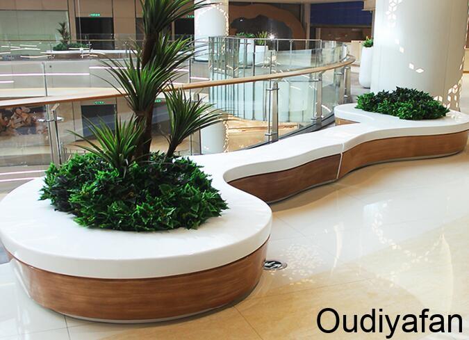 玻璃钢花盆景观座椅,非常多的商场都喜欢用!