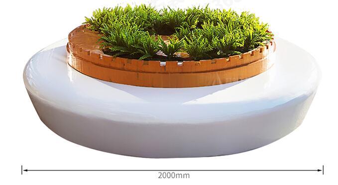玻璃钢圆形花坛