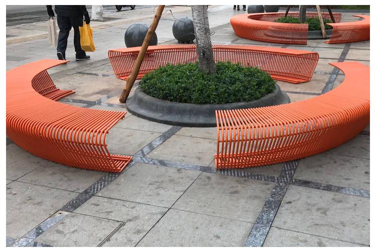 不锈钢护栏座椅