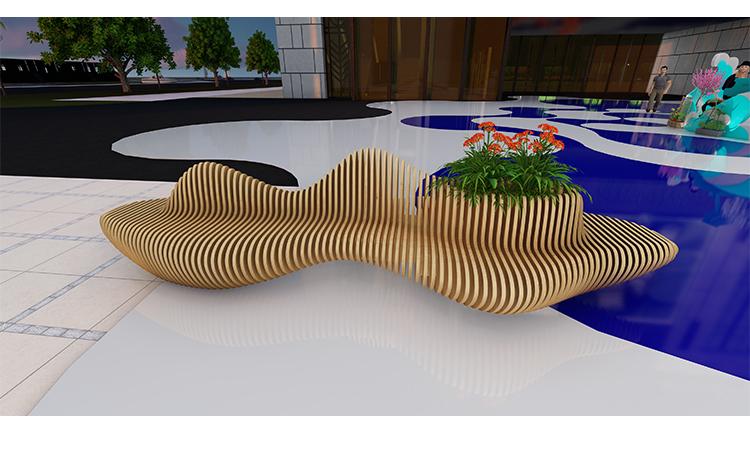 木艺美陈座椅设计款
