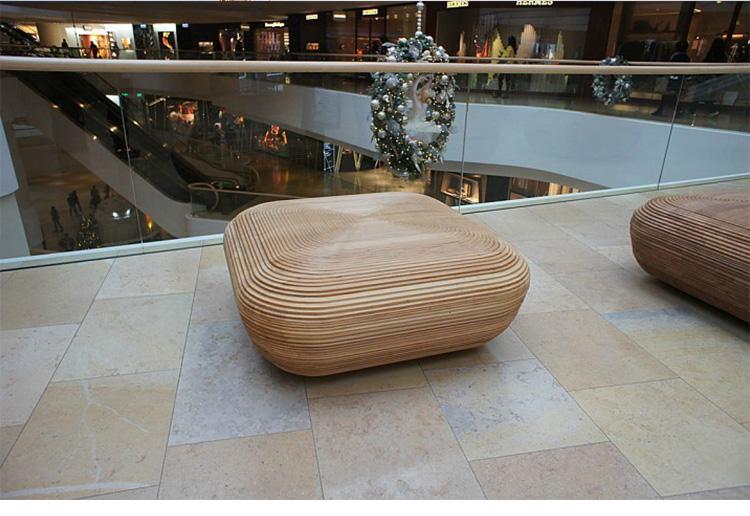 木质商场坐凳