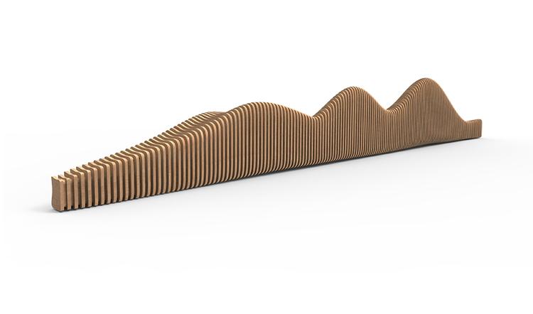 6米木艺切片座椅