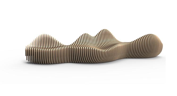 4米木艺切片座椅