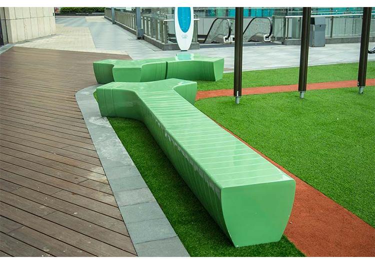 玻璃钢Y型户外景观坐凳