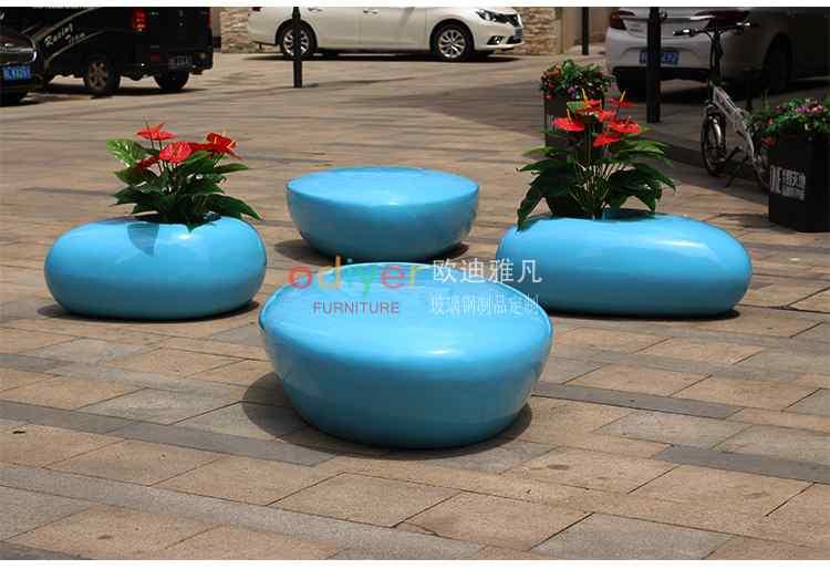 玻璃钢户外水滴座椅