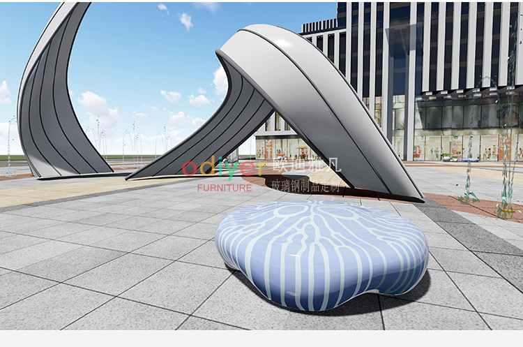 玻璃钢水母坐凳