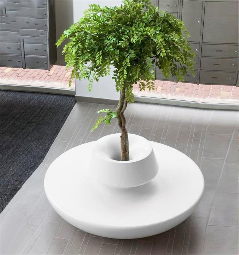 玻璃钢圆形花盆座椅,现代艺术的灵魂汇聚!