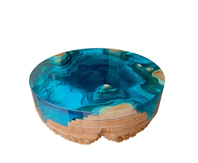 玻璃钢家具树脂茶几