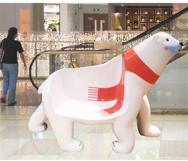 玻璃钢动物坐凳