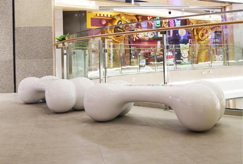玻璃钢骨头坐凳,创意骨头商场座椅!