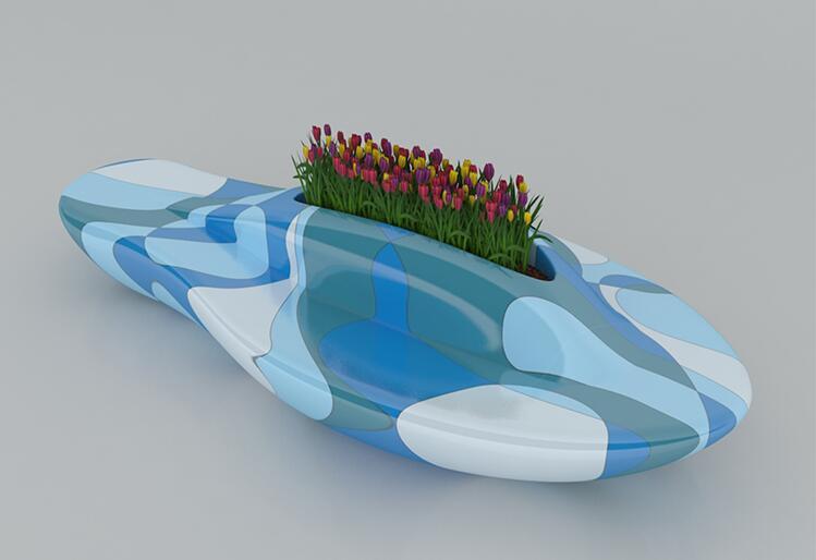 玻璃钢创意游艇商场座椅,商场座椅休闲椅都喜欢摆上它!