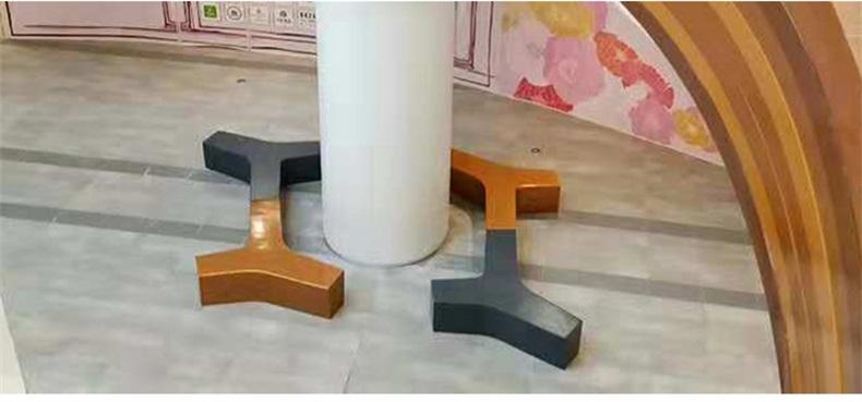 玻璃钢Y字形拼接组合户外坐凳