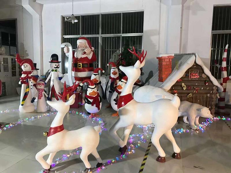 深圳圣诞美陈玻璃钢雕塑定制案例