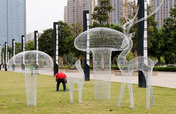 不锈钢铁艺景观摆件,提升空间美感!