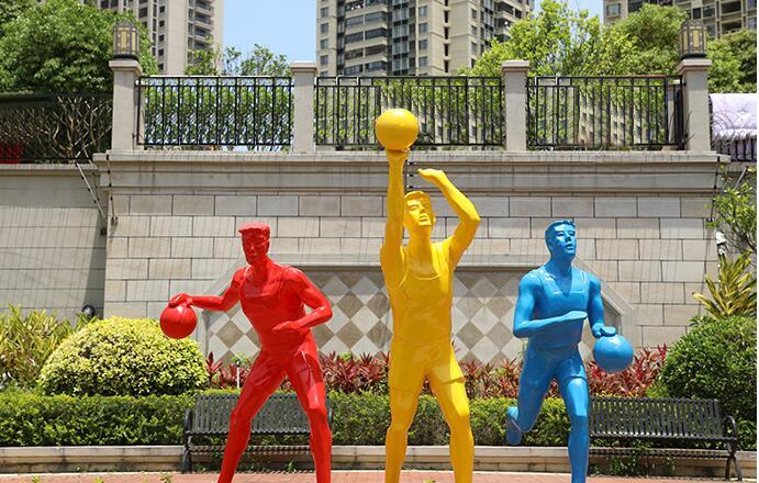 玻璃钢现代运动人物摆件,自然艺术雕塑!