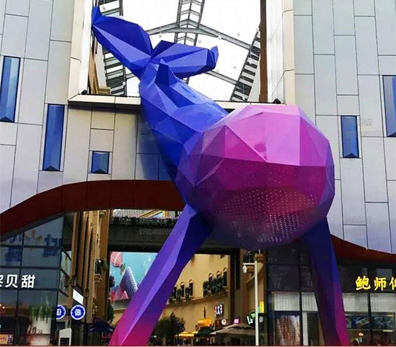 玻璃钢鲸鱼雕塑,可爱的拍照引流神器!