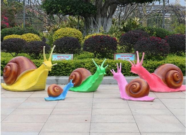 玻璃钢蜗牛雕塑,幼儿园公园广场非常受欢迎的摆件!