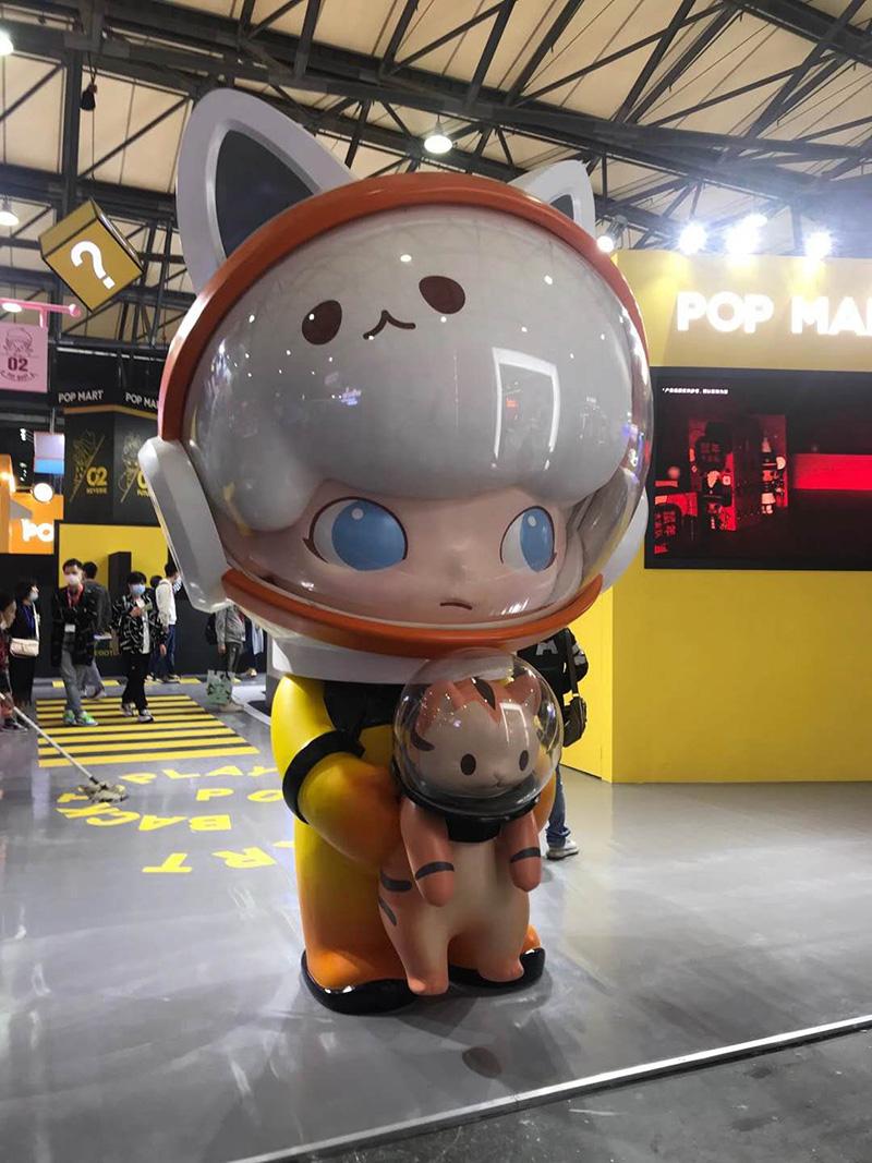 武汉商场玻璃钢雕塑定制案例