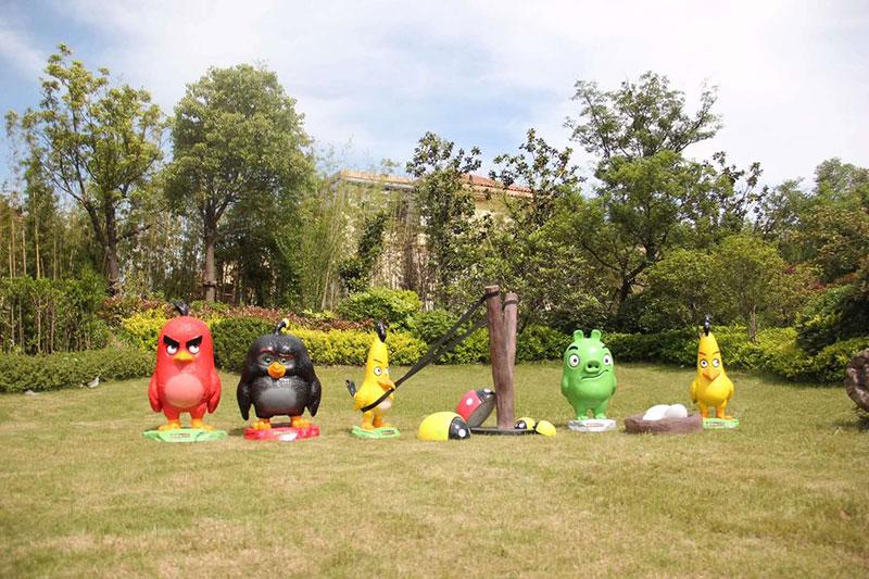广州游乐园玻璃钢雕塑定制案例