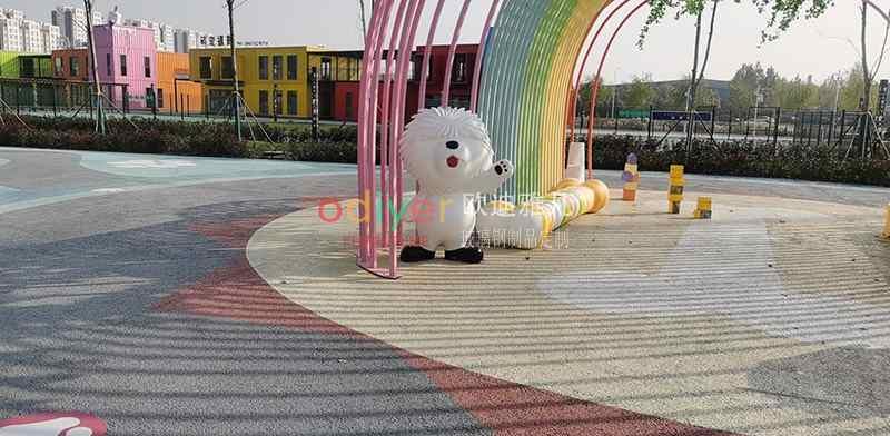 山东萌宠小镇广场雕塑定制案例