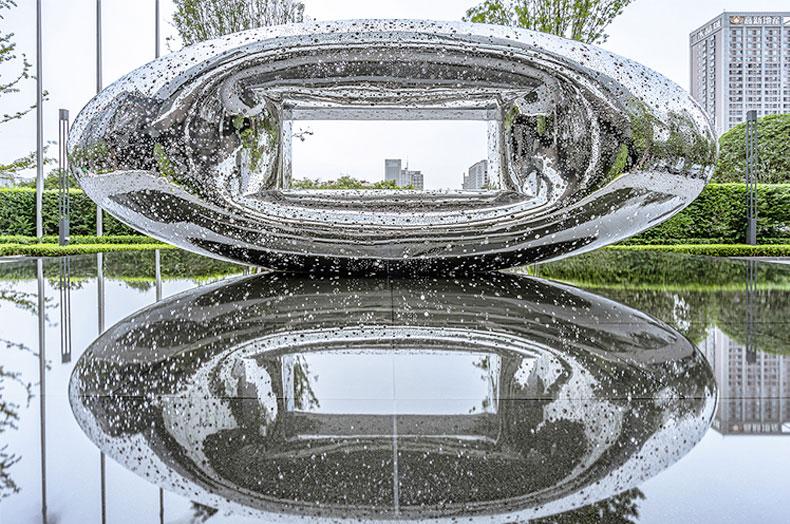 水景艺术不锈钢雕塑房地产售楼部广场雕塑
