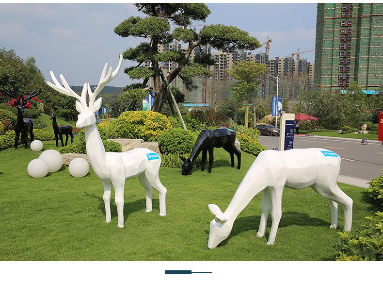 鹿不锈钢雕塑定制园林景观城市广场雕塑
