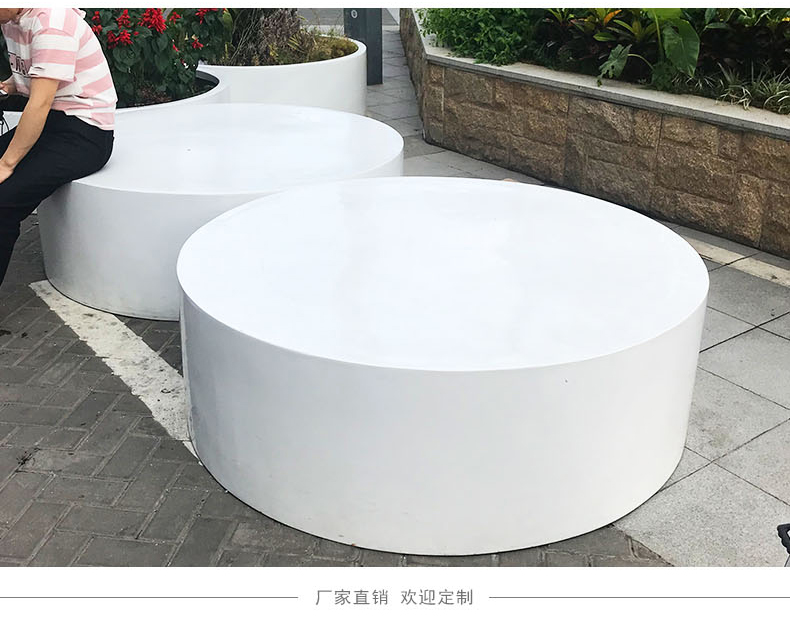 户外圆形大型玻璃钢花盆